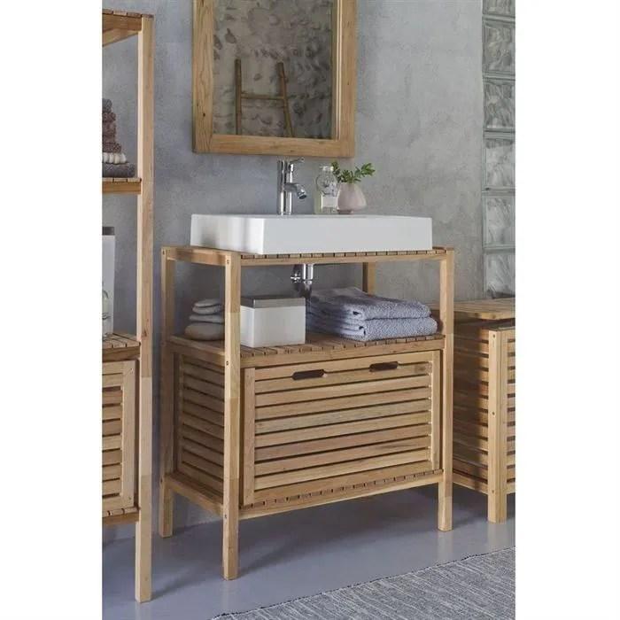 Cdiscount meuble salle de bain double vasque salle de for Meuble sous vasque 75 cm
