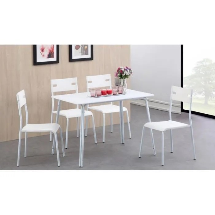 table 4 chaises conforama good table avec chaises perfect table avec chaise encastrable. Black Bedroom Furniture Sets. Home Design Ideas