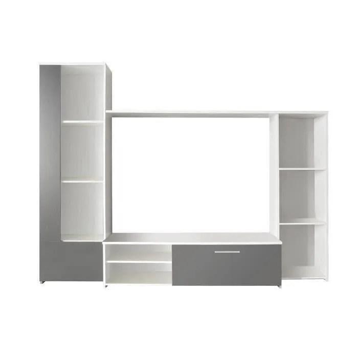 Finlandek Meuble Tv Mural Pilvi 220cm Coloris Blanc Et
