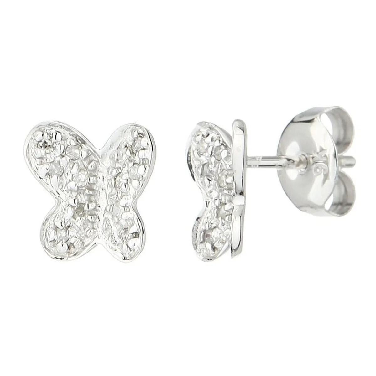 Le Diamantaire Boucle D Oreilles Or 375 Diamants