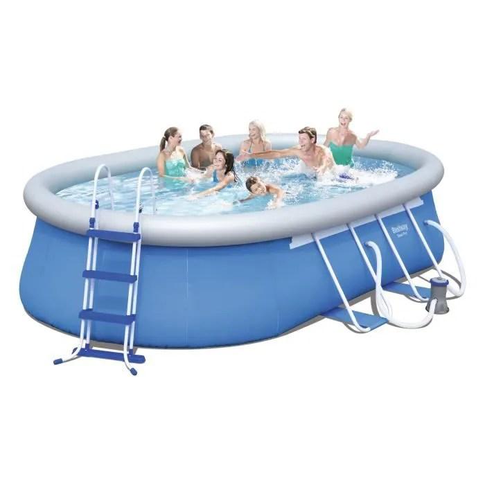 BESTWAY Kit Piscine autoportante ovale 488x305x107 m  Achat  Vente piscine Kit Piscine
