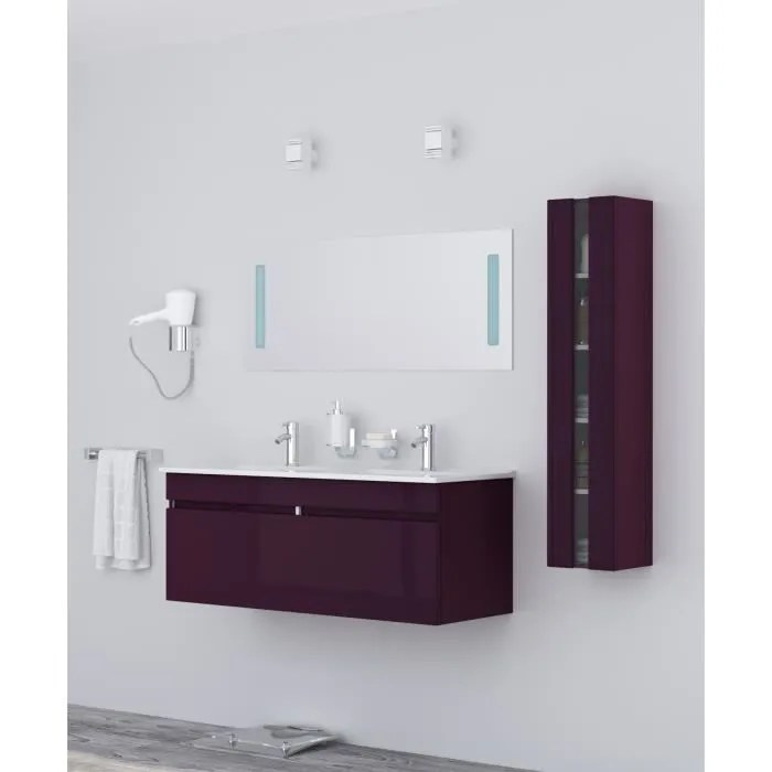 meuble salle de bain violet bright