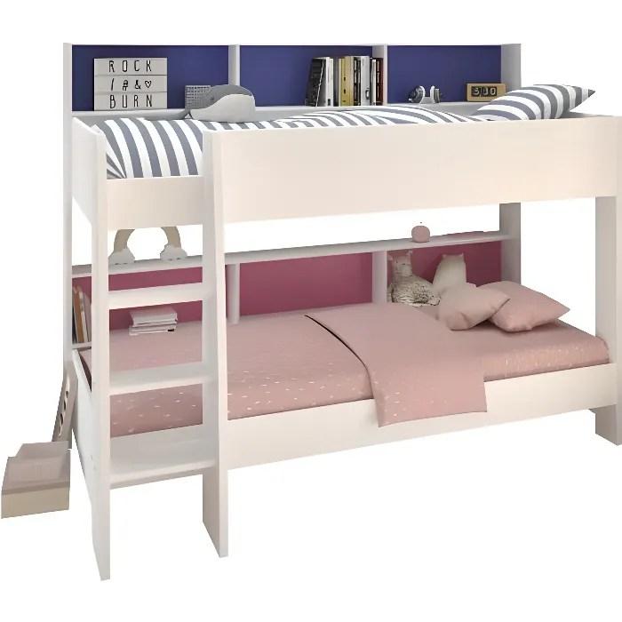 lits superposes jim lit superpose enfant contemporain blanc megeve