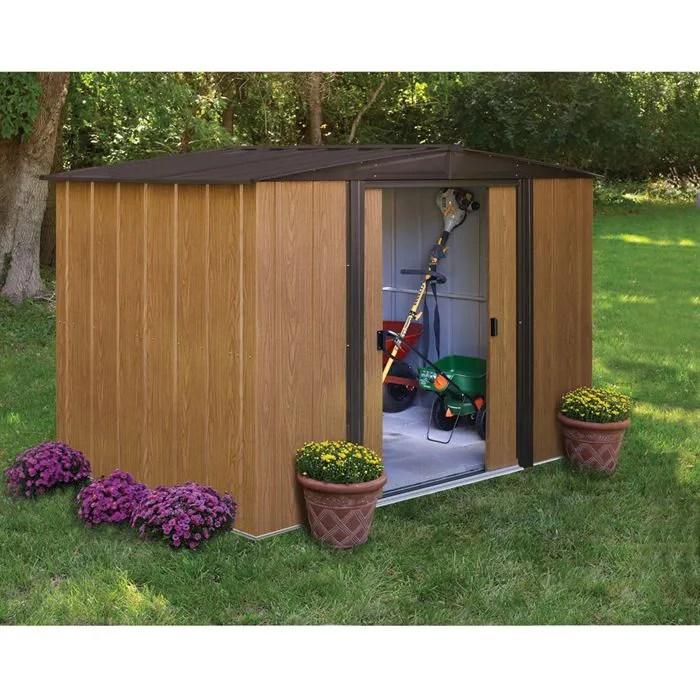 WL86 Abri de jardin 4 m mtal aspect bois 253x181  Achat  Vente abri jardin  chalet Abri