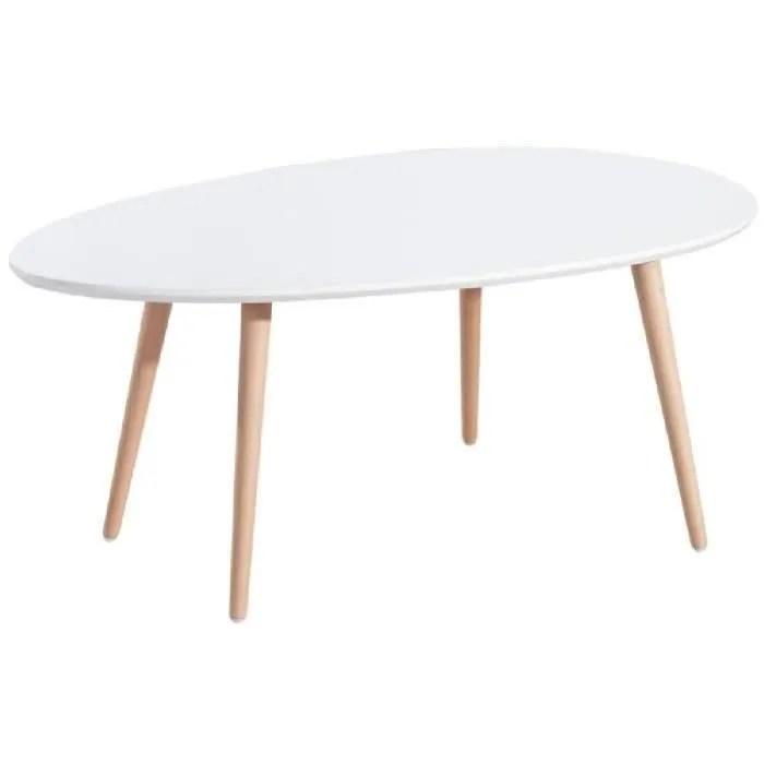STONE Lot De 2 Tables Basses Blanc Laqu Achat Vente