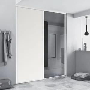 Porte Placard Coulissante 150x250 Miroir Novocom Top