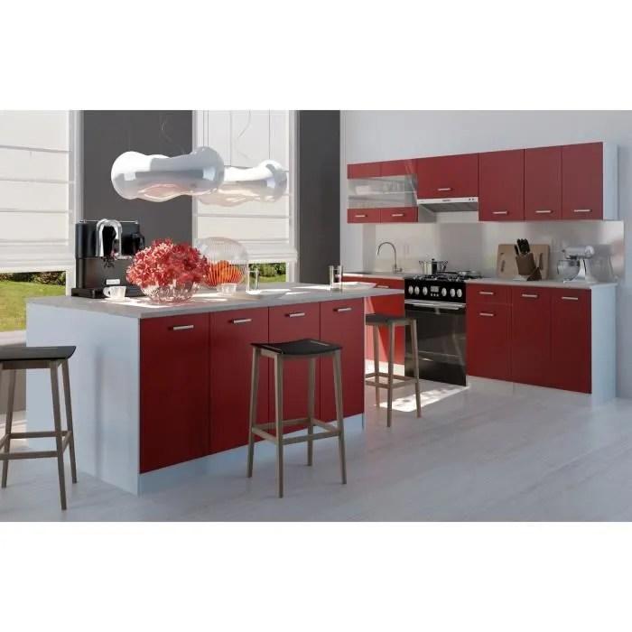 ULTRA Ilot de cuisine 2 m  Rouge  Achat  Vente ilot central CARMEN Ilot de cuisine  Cdiscount