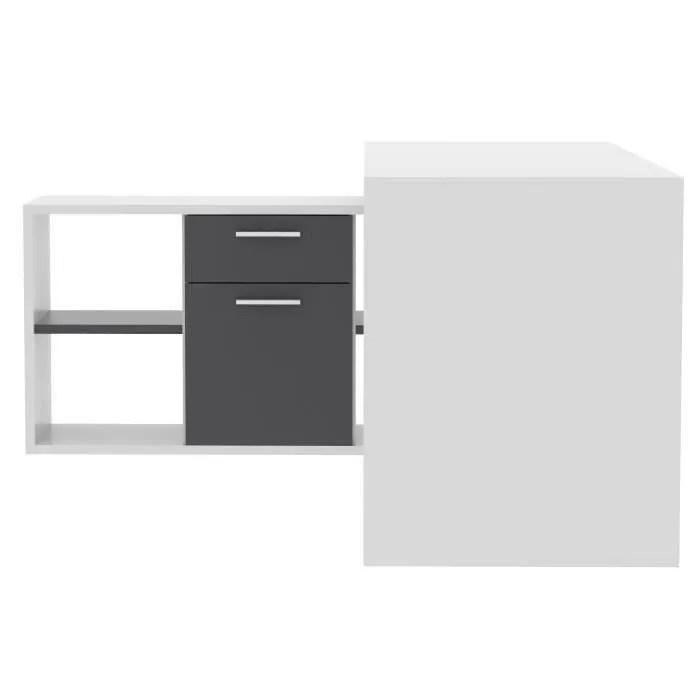 FINLANDEK Bureau dangle TY classique blanc et gris  L
