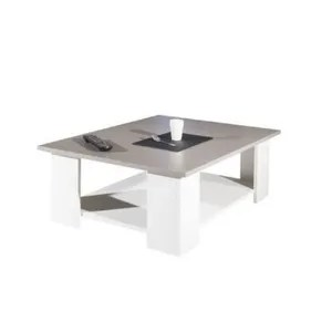 Table Basse Lime Table Basse Style Contemporain Blanc Et Taupe