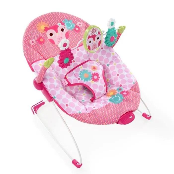 baby bouncy chair age childrens desk and set sri lanka bright starts transat rose pois fille - achat / vente balancelle 0074451605473 ...