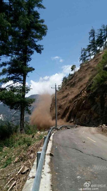 中尼邊境再次發生地震 吉隆口岸216國道塌方-中新網