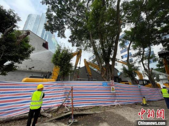 广州老城区的第一个混合改造项目开始在老城区创建新的地标建筑群-Chinanews.com