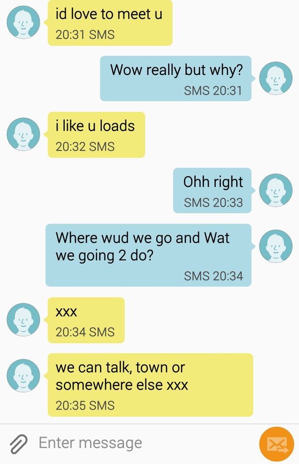 Text messages that David Hutchinson sent