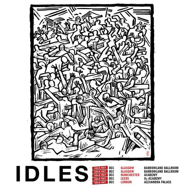 IDLES tour poster