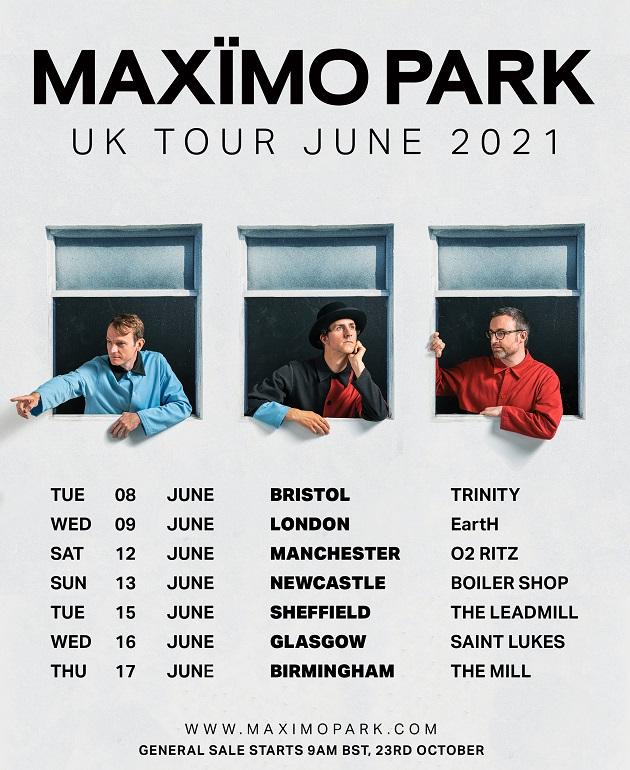 Maximo Park tour poster