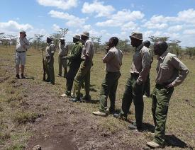 Guiding on Ol Pejeta