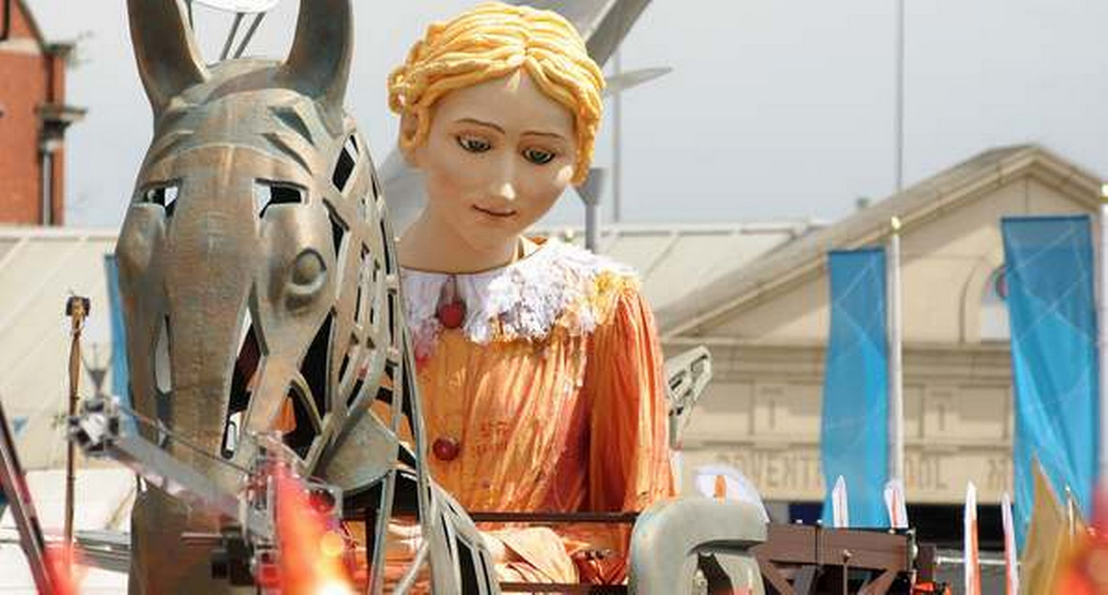 Lady Godiva travels through Coventry