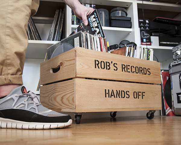 personalised record crate