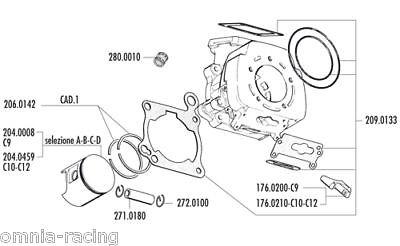 CAGIVA MITO 125 EV 94 06 MOTORE GRUPPO TERMICO POLINI 107