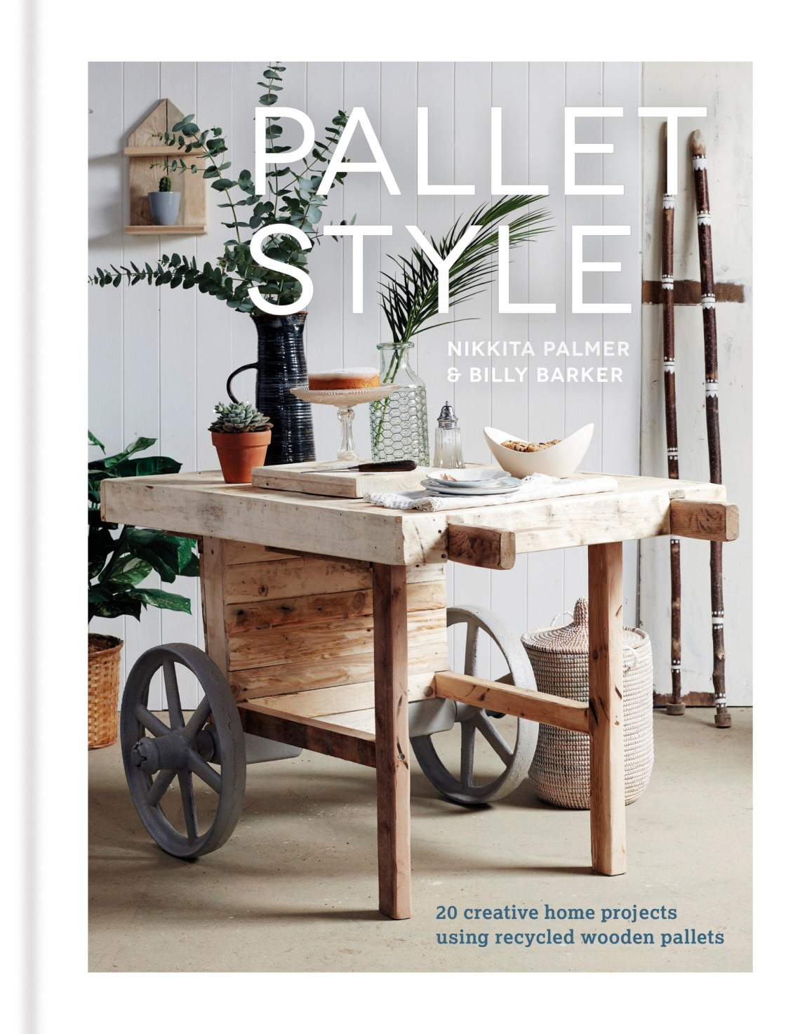 From sofas to shelving to a stylish home bar, Pallet Style shows you how to create your own furniture using reclaimed wooden pallets. Whether you want to make something in a weekend or are embarking on a more complex bespoke piece for your home, each of Nikkita and Billy's projects are stylish design solutions, perfect for Scandi-influenced urban apartments or rustic retreats. An introductory section explains the different kinds of standard pallets, many of which can be sourced for free as they are so readily available. Full instructions for deconstructing a pallet are provided, together with ideas on how to source them. The projects are divided into three sections - Furniture, Storage & Display and Accessories - each project includes full step-by-step instructions and photographs. In furniture, find out how to construct a bed, a home bar or a coffee table. Storage & Display features makes for a display shelf, a herb box planter and a log 'basket', as well as a recycling centre for your kitchen. In Accessories, find out how to make key hooks, a breakfast tray and a festival sign.