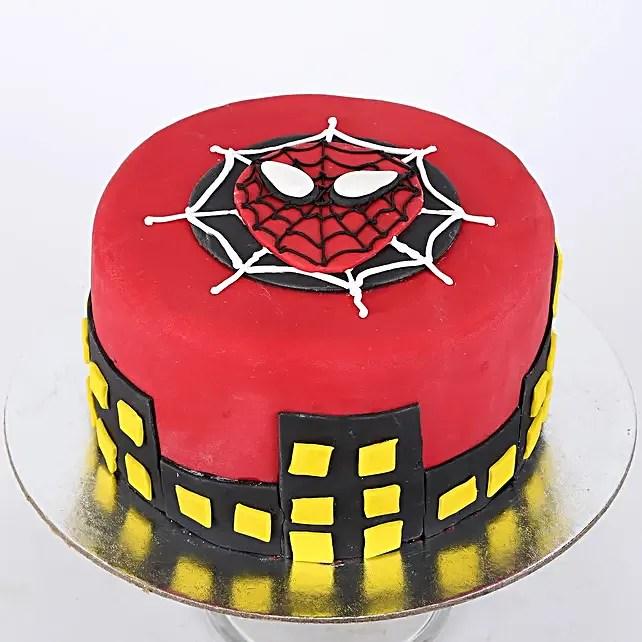 Spiderman Cake Designs Spiderman Birthday Cake Ferns N Petals