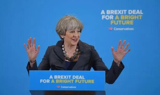 Prime Minister Theresa May visited Guisborough company CJ Leonard & Sons