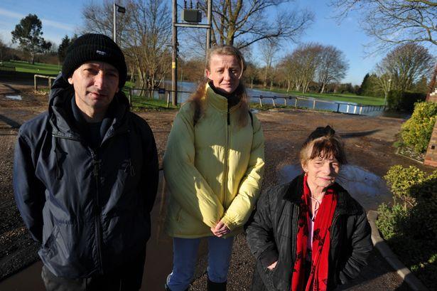 Jacqui Jones (yellow jacket) with Paul Wells and Helen Saxey-Santillo