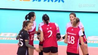 2019-2020中国女排超级联赛 第2阶段 第8轮 广东 - 辽宁