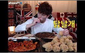 [韩国吃播][花猪]炸鸡翅