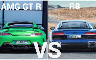 野兽之间的较量!2019 奥迪 R8 vs 奔驰 AMG GTR !