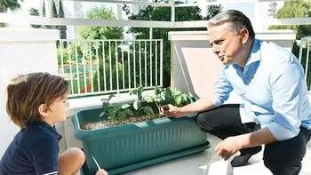 Çocukların sağlıklı gelişimi için her balkona saksı ve fide