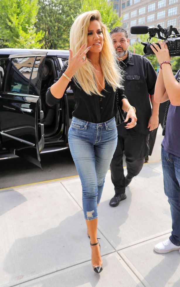 Khloe Kardashian out and about in New York promoting her denim line