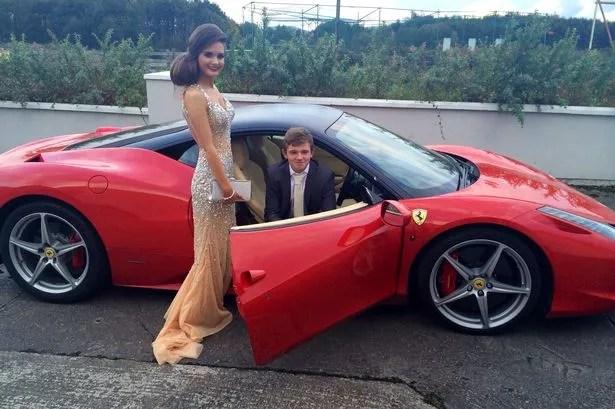 Jason Floods Gal Borrows A Pals Supercar For Big Night