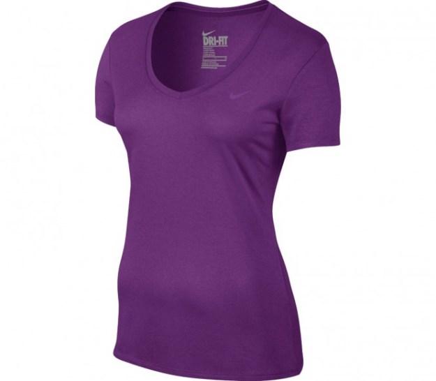 Nike - Legend 2.0 V-Neck Shortsleeve t-shirt de fitness pour femmes (violet) - L