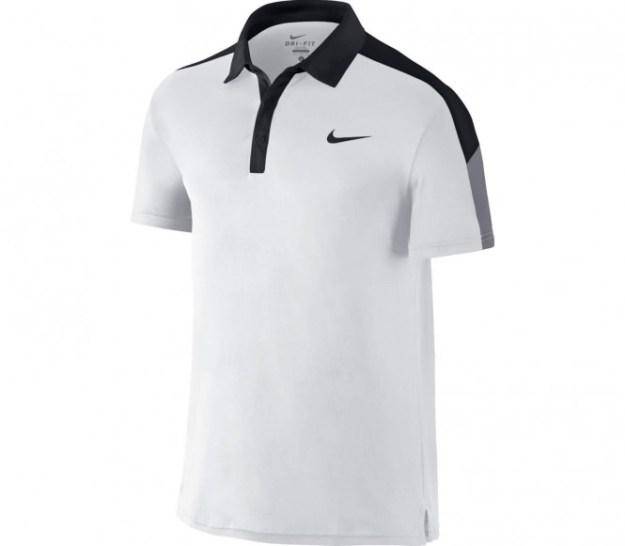 Nike - Team Court polo de tennis pour hommes (blanc/noir) - XXL
