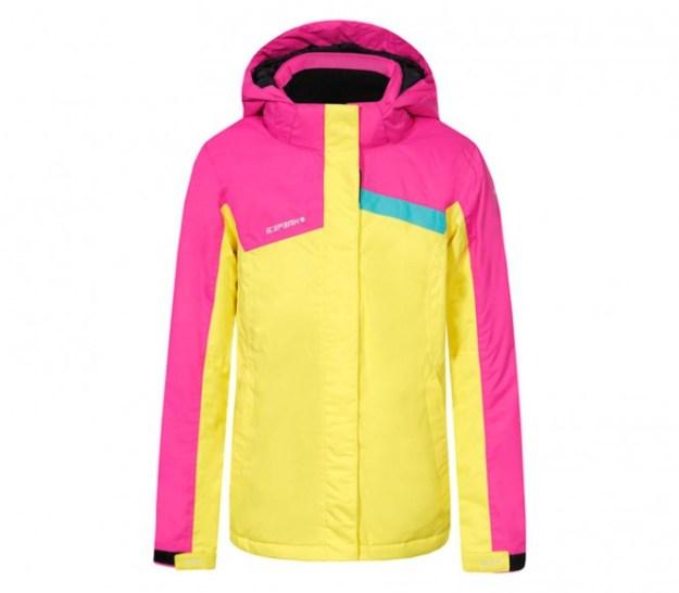 Icepeak - Norma Junior Veste de ski (rose/jaune) - 116