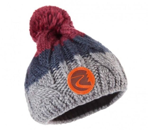 Maloja - CurtinsM. Bonnet pour femmes (gris/bleu/rouge)