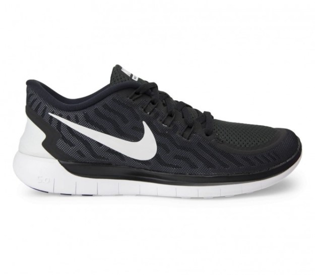 Nike - Free 5.0 Chaussures de running pour femmes (noir/blanc) - EU 39 - US 8