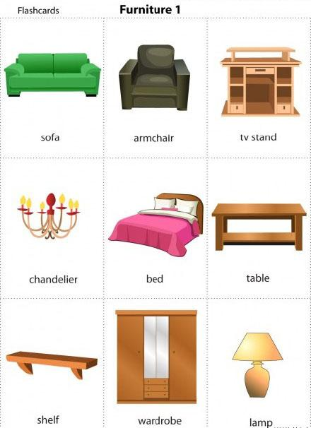 超全家具英文詞彙總結,圖片對照版 - 每日頭條