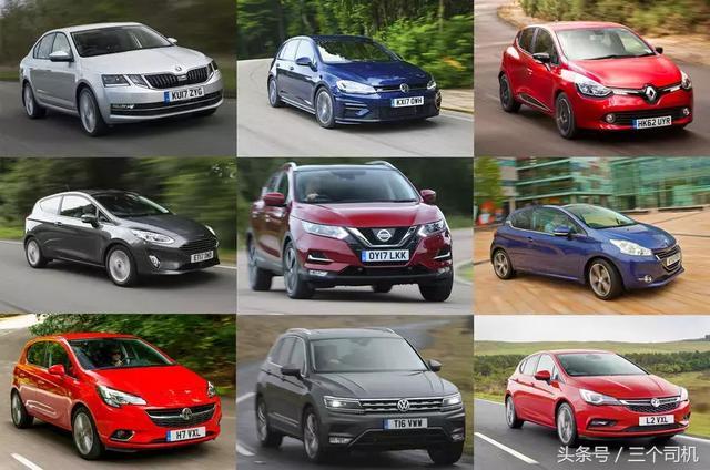 今年歐洲最好賣的十款車。有六款在中國。大眾最受歡迎 - 每日頭條