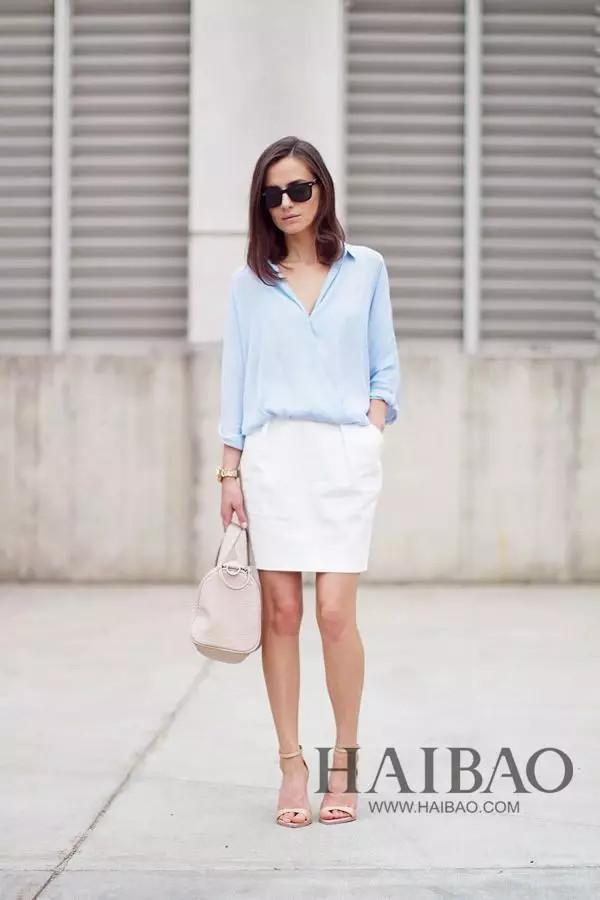 藍色襯衫的37種最美穿搭! - 每日頭條