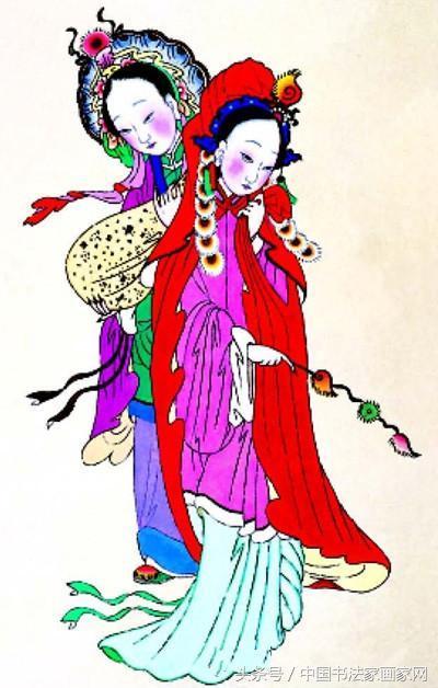 中國傳統新春年畫與年畫與故事部分選登 - 每日頭條