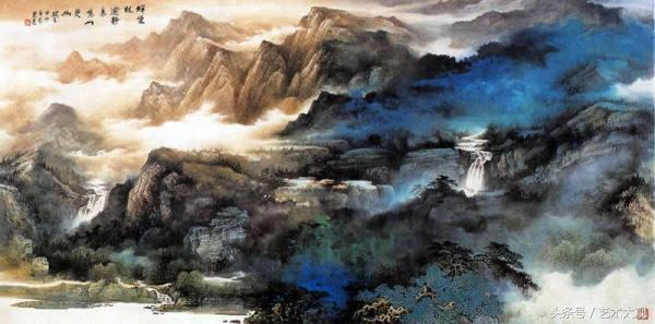 青山如染 陳亮國畫山水作品欣賞 - 每日頭條