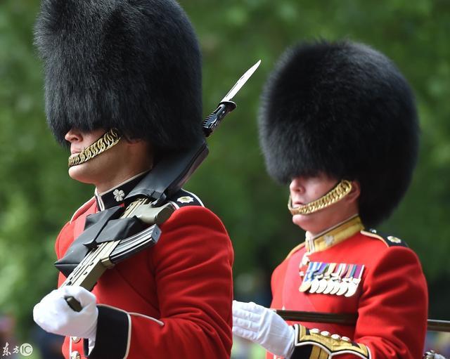 英國皇家衛隊高聳的熊皮帽。已有200多年歷史你了解多少? - 每日頭條