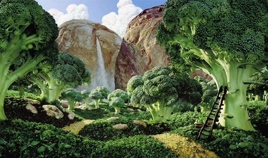 創意攝影,但是在進行這些攝影企劃前,攝影師用蔬菜水果拍攝成風景 - 每日頭條