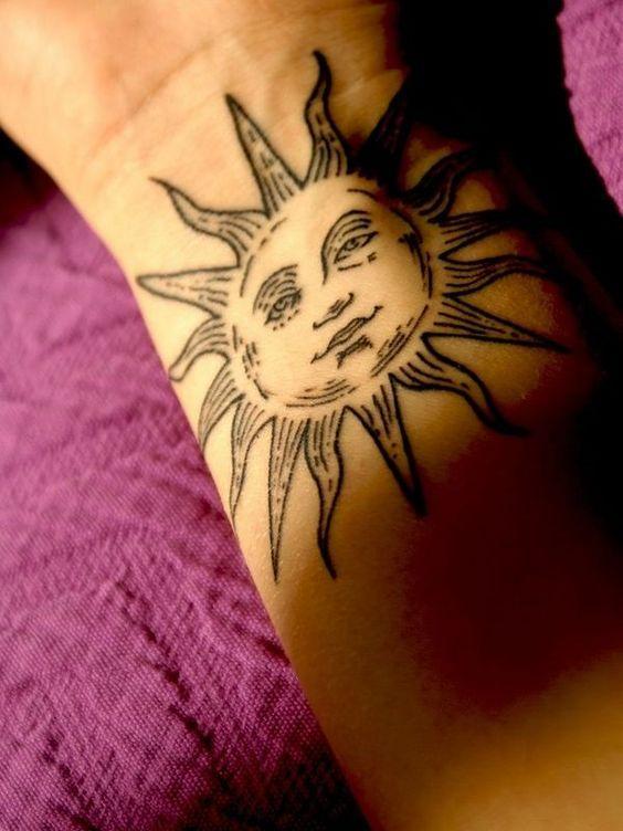 超美太陽紋身,寓意也很不錯! - 每日頭條