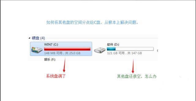 電腦C盤儲存不足了?可以將其他盤空間分給C盤 - 每日頭條