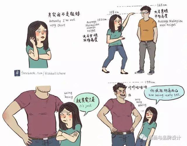 她比男友低41cm,畫出身高158遇到199的愛情,最萌身高差的真相竟然是這樣 - 每日頭條