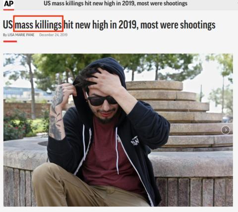 美聯社、BBC同聲驚呼:2019年美國發生史上最密集大規模殺戮事件 - 每日頭條