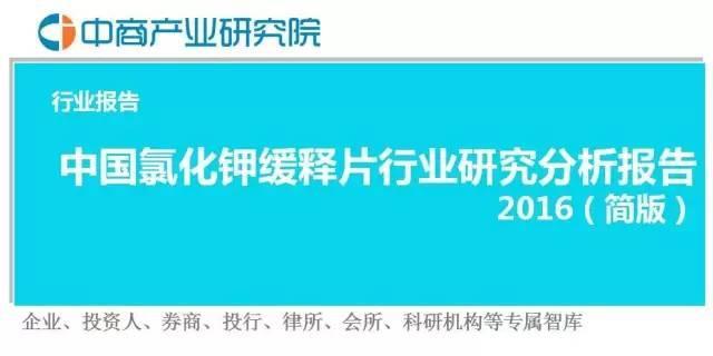 報告中國氯化鉀緩釋片行業研究分析報告2016(簡版) ! - 每日頭條